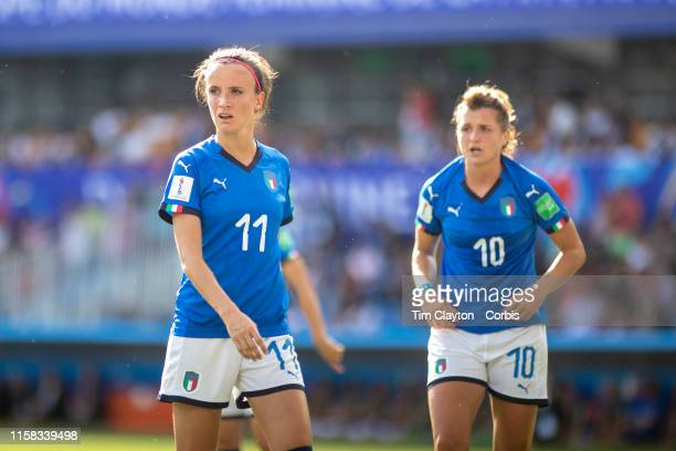 June 25 Barbara Bonansea of Italy and Cristiana Girelli of Italy during the Italy V China round of sixteen match at the FIFA Women's World Cup at...