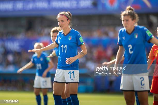 June 25 Barbara Bonansea of Italy and teammates defending a corner during the Italy V China round of sixteen match at the FIFA Women's World Cup at...
