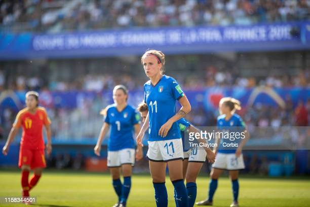 June 25 Barbara Bonansea of Italy during the Italy V China round of sixteen match at the FIFA Women's World Cup at Stade De La Mosson on June 25th...