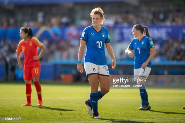 June 25 Cristiana Girelli of Italy during the Italy V China round of sixteen match at the FIFA Women's World Cup at Stade De La Mosson on June 25th...