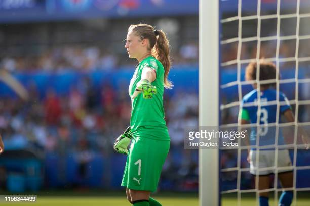 June 25 Goalkeeper Laura Giuliani of Italy during the Italy V China round of sixteen match at the FIFA Women's World Cup at Stade De La Mosson on...