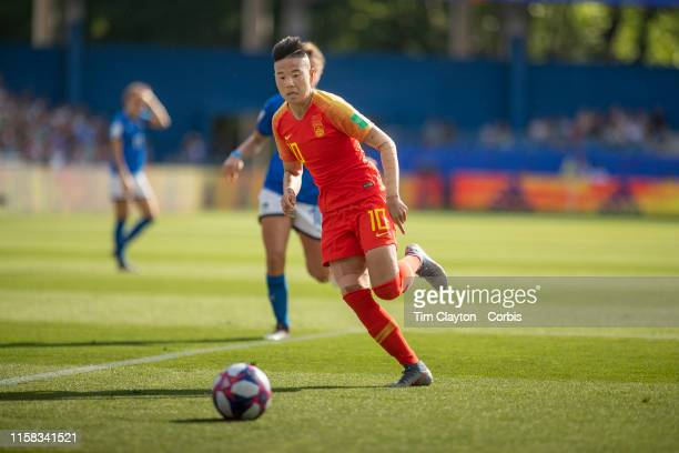 June 25 Li Ying of China in action during the Italy V China round of sixteen match at the FIFA Women's World Cup at Stade De La Mosson on June 25th...