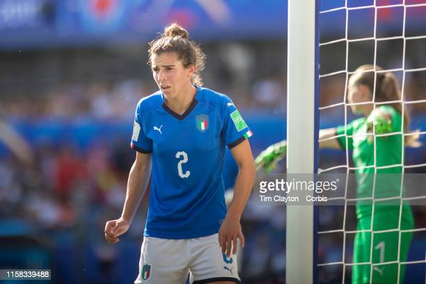 June 25 Valentina Bergamaschi of Italy defending a corner during the Italy V China round of sixteen match at the FIFA Women's World Cup at Stade De...