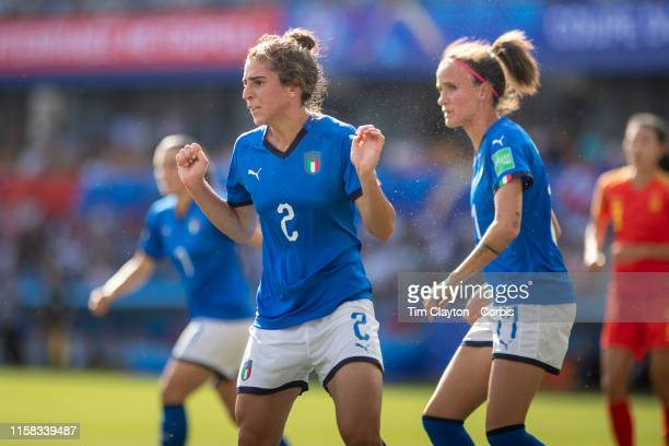June 25 Valentina Bergamaschi of Italy heads clear from a corner during the Italy V China round of sixteen match at the FIFA Women's World Cup at...