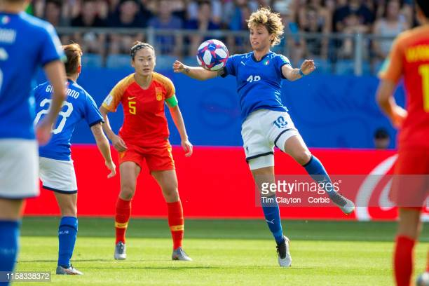 June 25 Valentina Giacinti of Italy in action during the Italy V China round of sixteen match at the FIFA Women's World Cup at Stade De La Mosson on...