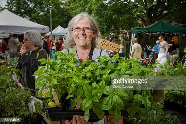 June 26 2008 Colette Murphy sells plants from her stall called Urban Harvest at the Dufferin Grove Market For series about what's new in the city's...