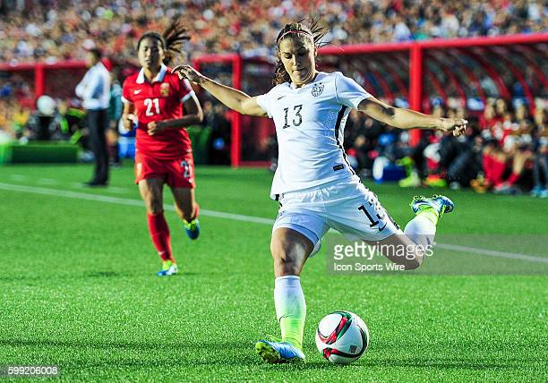 Alex Morgan of USA during the FIFA 2015 Women's World Cup QuarterFinal match between China and the USA at Lansdowne Stadium in Ottawa Canada USA...