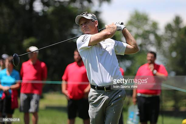 Mark Wilson hits from the 6th tee during the second round of the Traveler's Championship at TPC River Highlands in Cromwell Connecticut