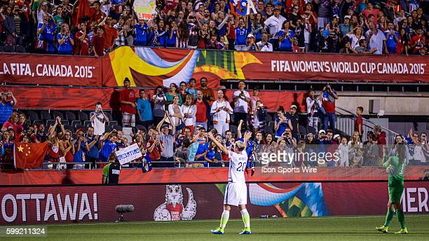 The Ottawa crowd salute Abby Wambach of USA after the FIFA 2015 Women's World Cup QuarterFinal match between China and the USA at Lansdowne Stadium...