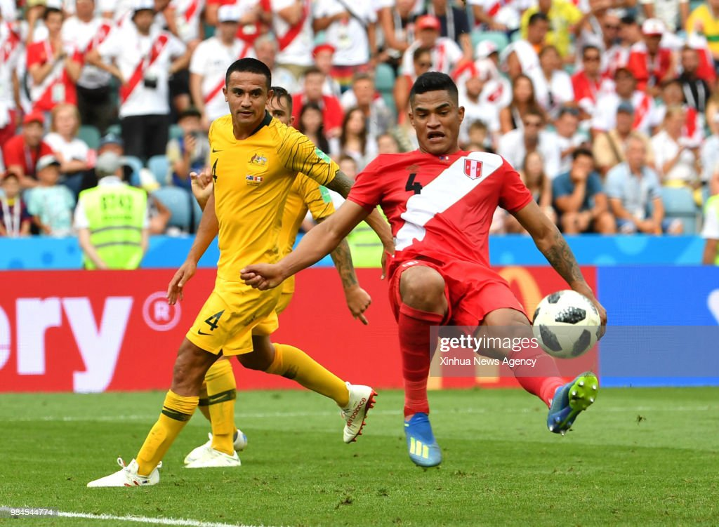 c3911a817a3603 SOCHI, June 26, 2018 -- Tim Cahill of Australia vies with Anderson ...