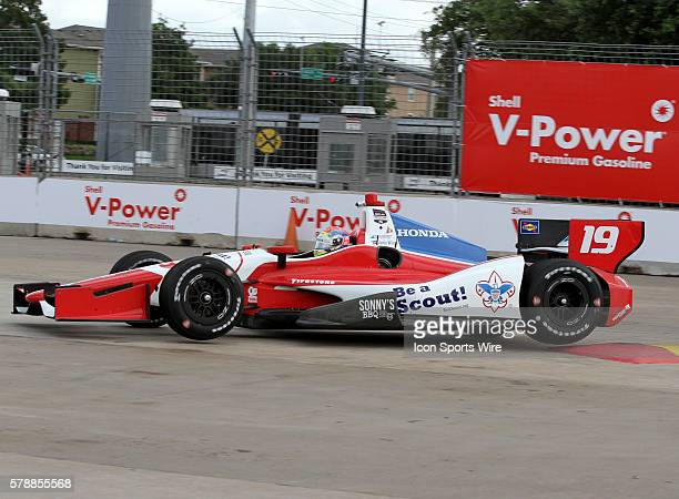 Justin Wilson during practice for the IndyCar Series Grand Prix of Houston at MD Anderson Cancer Center Speedway in Houston, TX.