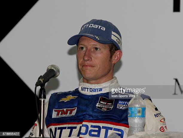 Ryan Briscoe during a press conference for the IndyCar Series Grand Prix of Houston at MD Anderson Cancer Center Speedway in Houston, TX.