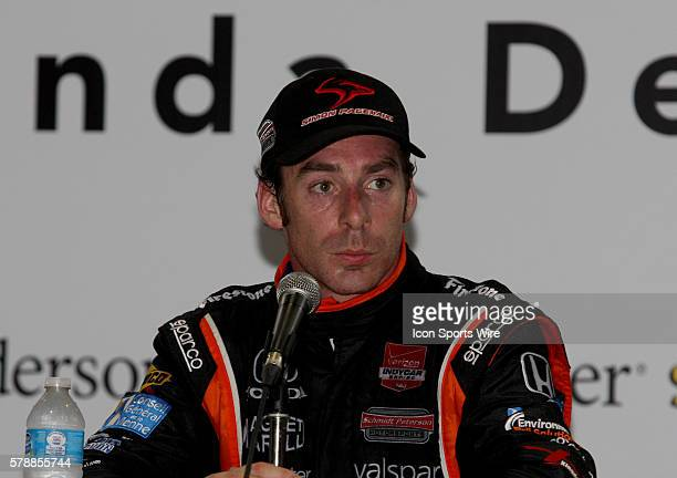 Simon Pagenaud during a press conference for the IndyCar Series Grand Prix of Houston at MD Anderson Cancer Center Speedway in Houston, TX.