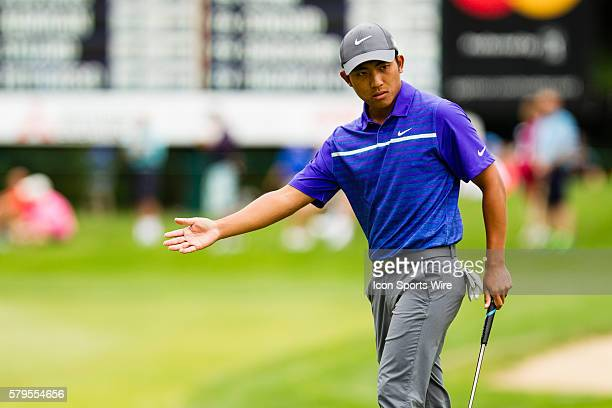 CT Pan on the green during the third round of the Travelers Championship at TPC River Highlands in Cromwell CT