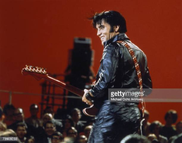 June 27 California, Burbank, Elvis Presley performing on the Elvis comeback TV special.