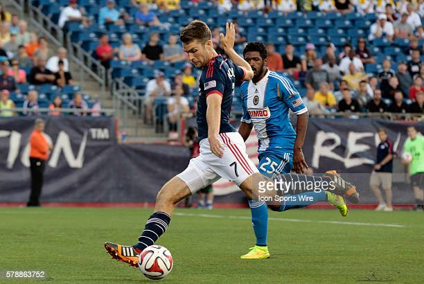 New England Revolution's Patrick Mullins gets a shot away The Philadelphia Union defeated the New England Revolution 31 in a regular season Major...