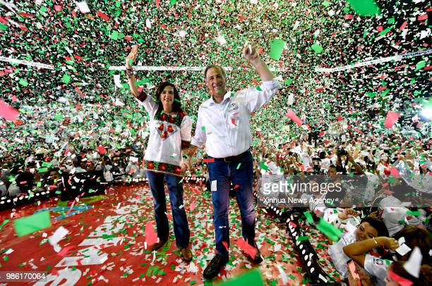 MONTERREY June 28 2018 Mexico's presidential candidate Jose Antonio Meade attends the closing event of his electoral campaign in Monterrey Mexico on...