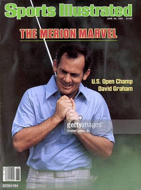Golf US Open Closeup of David Graham during Sunday play at Merion GC Ardmore PA 6/21/1981 CREDIT Walter Iooss Jr