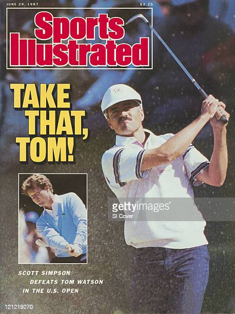June 29, 1987 Sports Illustrated via Getty Images Cover: Golf: U.S. Open: Scott Simpson in action from sand on Sunday at The Olympic Club. Inset: Tom...