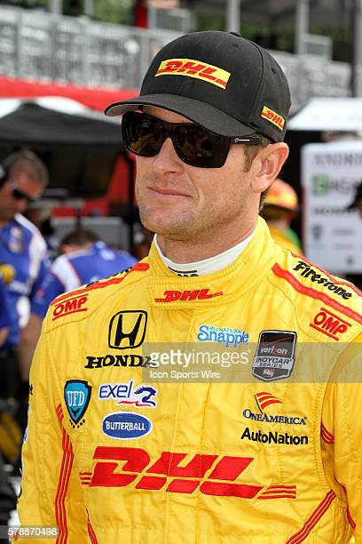Ryan Hunter-Reay during qualifying for the IndyCar Series Grand Prix - Race 2 of Houston at MD Anderson Cancer Center Speedway in Houston, TX.