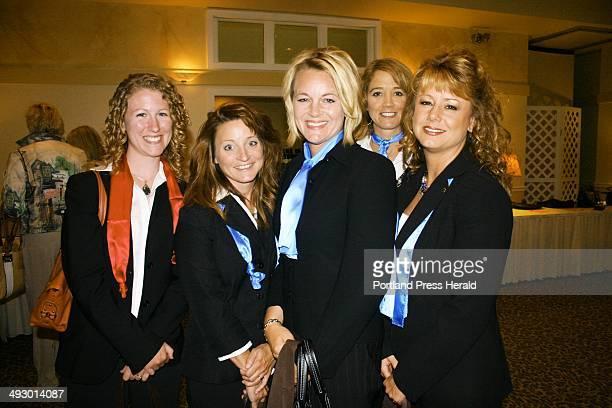 Kathrine Farris Katherine Damon Jody Hamilton Renee Pottle and Sherry Norton who are the Gorham Savings Bank Divas staff photo