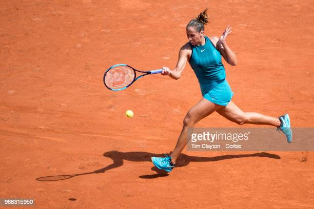June 3 French Open Tennis Tournament Day Eight Madison Keys of the United States in action against Mihaela Buzarnescu of Romania in the Women's...