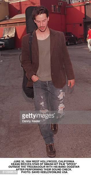 June 30 1994 West Hollywood Ca Keanu Reeves The Star Of New Smash Film Speed Poses Outside Of The Troubadour After His Band Dogstar's Sound Check