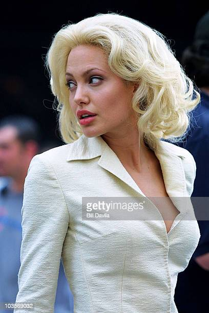 June 30 2001 file photo of Angelina Jolie on location in Times Square filming ' Life or Something Like it '