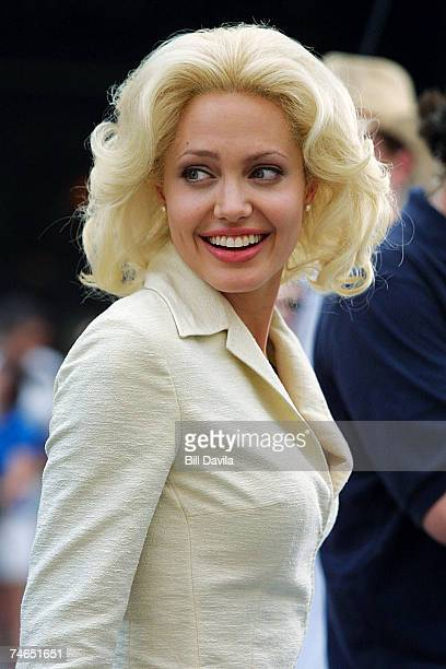 June 30 2001 file photo of Angelina Jolie on location in Times Square filming ' Life or Something Like it ' at the 2001 File Photo of Angelina Jolie...