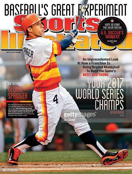 June 30 2014 Sports Illustrated via Getty Images Cover Houston Astros George Springer in action hitting home run vs Seattle Mariners at Safeco Field...