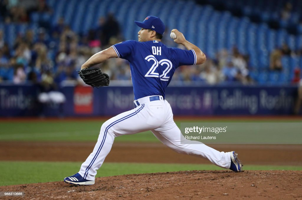 The Toronto Blue Jays took on the Detroit Tigers at the Rogers Centre : News Photo