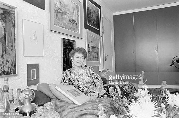 June 4 Farida OF EGYPT Queen of Egypt and the first wife of King Farouk in his apartment in Paris
