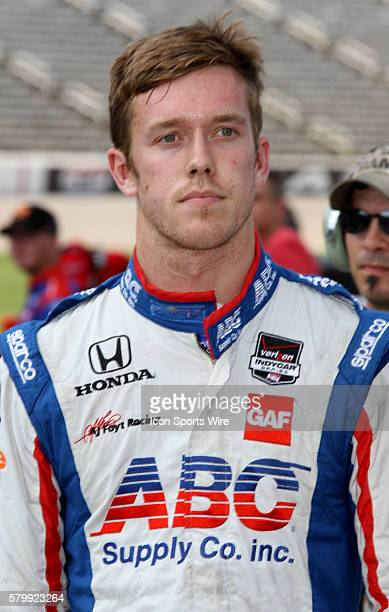 Charlie Kimball, driver of the Levemir FlexTouch Chip Ganassi Racing Chevrolet during qualifying for the Firestone 600 at the Texas Motor Speedway in...