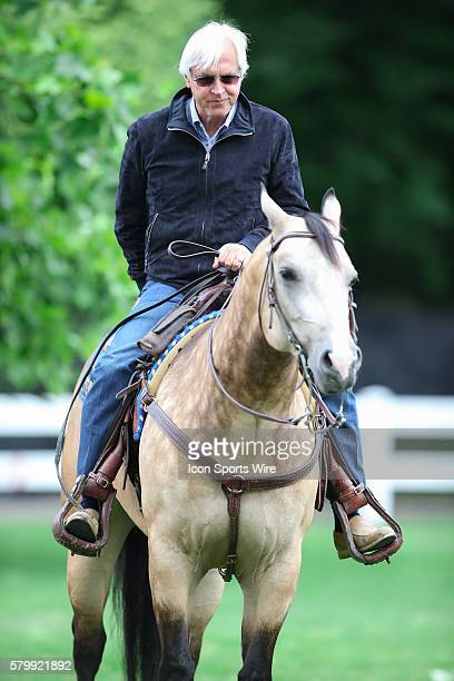 Hall of Fame Trainer Bob Baffert entertained the throngs of media camped outside Kentucky derby and Preakness Stakes winner American Pharoah's barn...