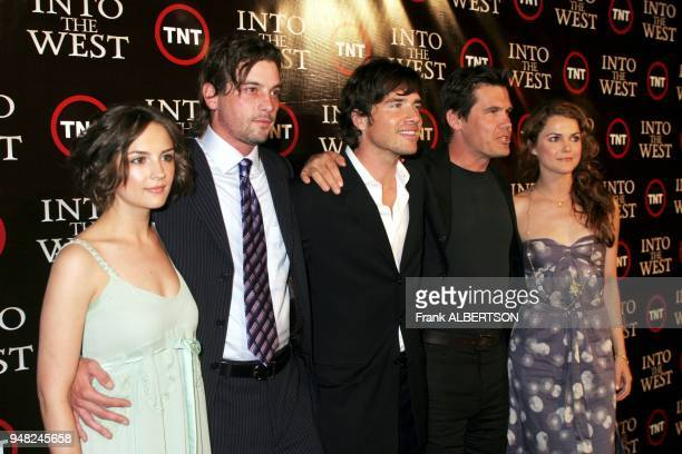 June 6 2005 Rachel Leigh Cook Skeet Ulrich Tonantzin Carmello Michael Spears Matthew Settle Josh Brolin and Kerri Russell at the TNT premiere of...