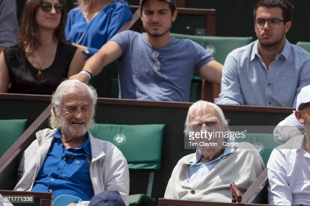 June 8 French Open Tennis Tournament Day Thirteen Spectators watching the Dominic Theim of Austria in action against Marco Cecchinato of Italy on...