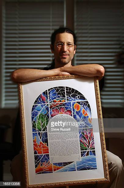 June 9 2010 Holding a Ketubah titled Stained Glass by Lee Loebman Toronto resident Michael Shapiro is the founder of wwwketubahcom the world's number...