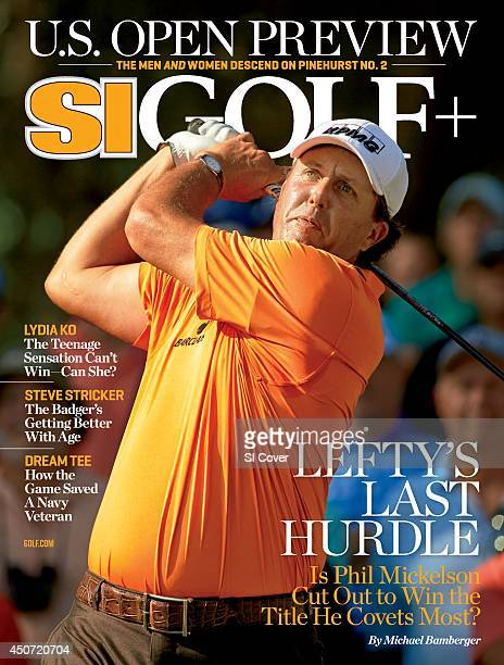 June 9 2014 Sports Illustrated Golf Plus Cover The Players Championship Phil Mickelson in action during Thursday play at Stadium Course of TPC...