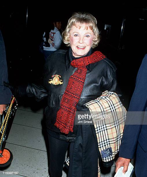 June Allyson during June Allyson Sighting at LAX February 9 1994 at Los Angeles International Airport in Los Angeles California United States