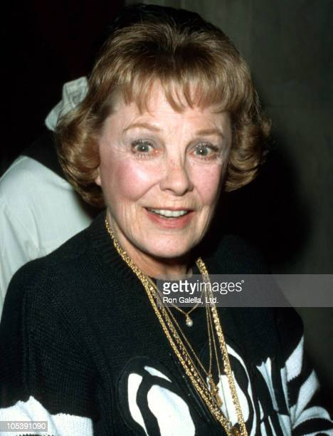 June Allyson during June Allyson Sighting in Beverly Hills December 14 1986 at Beverly Wilshire Hotel in Beverly Hills California United States
