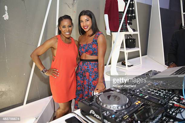 June Ambrose and DJ Hannah Bronfman attend the StyleWatch x Revolve Fall Fashion Party on the The High Line on August 12 2015 in New York City