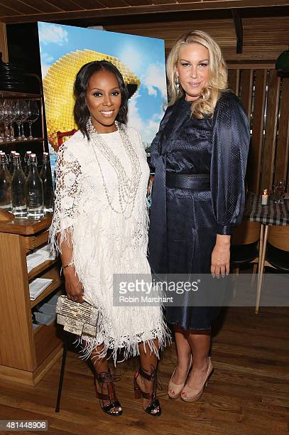 June Ambrose and Heather Parry attend a Dinner Honoring The Women Of 'Pixels' at Upland on July 20 2015 in New York City