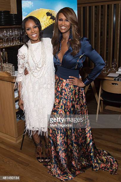 June Ambrose and Iman attend the Dinner Honoring the Women of 'Pixels' at Upland on July 20 2015 in New York City