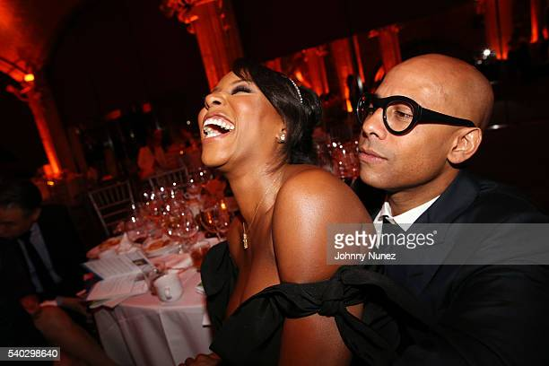 June Ambrose and Marc Chamblin attend the 2016 National Urban Technology Center Gala Awards Dinner at Gustavino's on June 14 2016 in New York City