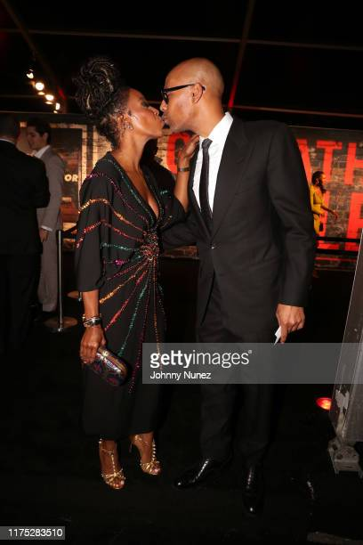 June Ambrose and Marc Chamblin attend the Godfather Of Harlem New York Screening at The Apollo Theater on September 16 2019 in New York City