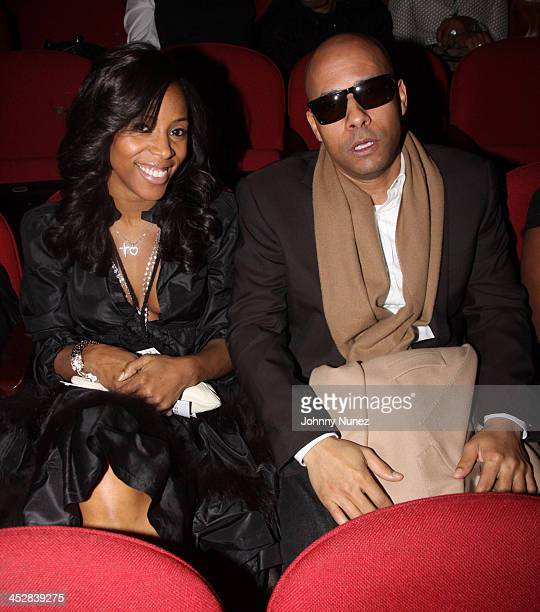 June Ambrose and Marc Chamblin attend the premiere of BET's Harlem Heights on March 2 2009 in New York City