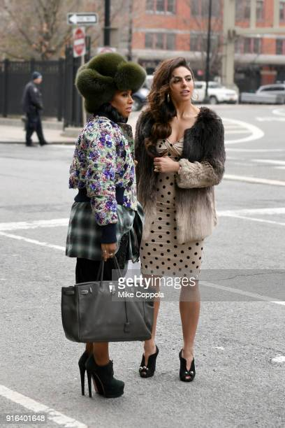 June Ambrose and Shari Loeffler outside during New York Fashion Week The Shows on February 9 2018 in New York City