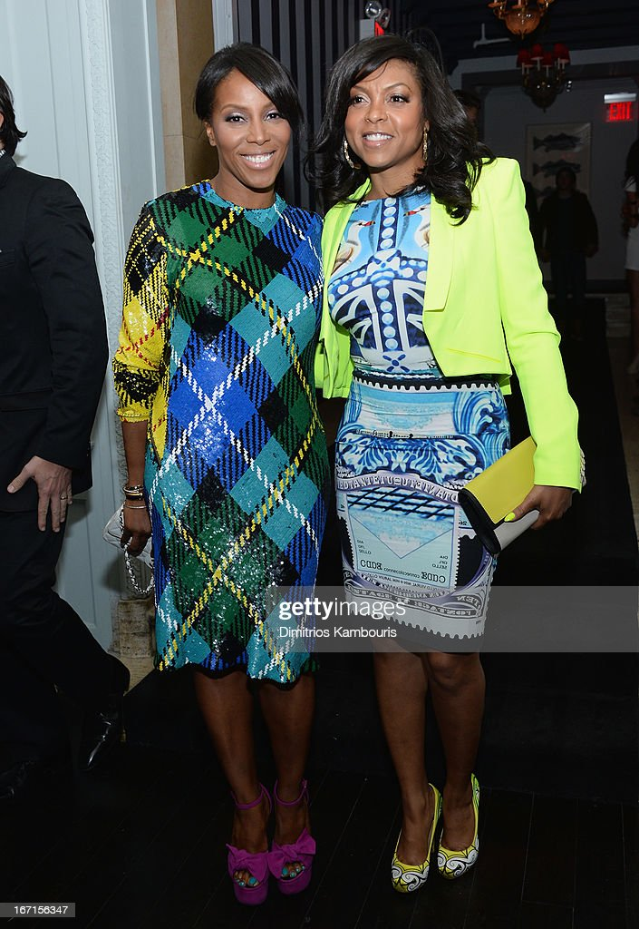 June Ambrose and Taraji P. Henson attend the after party for The Cinema Society with FIJI Water & Levi's screening of 'Mud' at Harlow on April 21, 2013 in New York City.