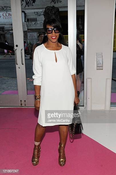 2bd6c070fcf7 June Ambrose attends INC International Concepts at Macy s press preview at  Openhouse Gallery on August 17