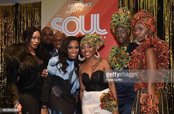 June Ambrose attends Macy's Lenox Square Black History Month Celebration of Soul Era Style at Macy's Lenox Square on February 6 2015 in Atlanta...